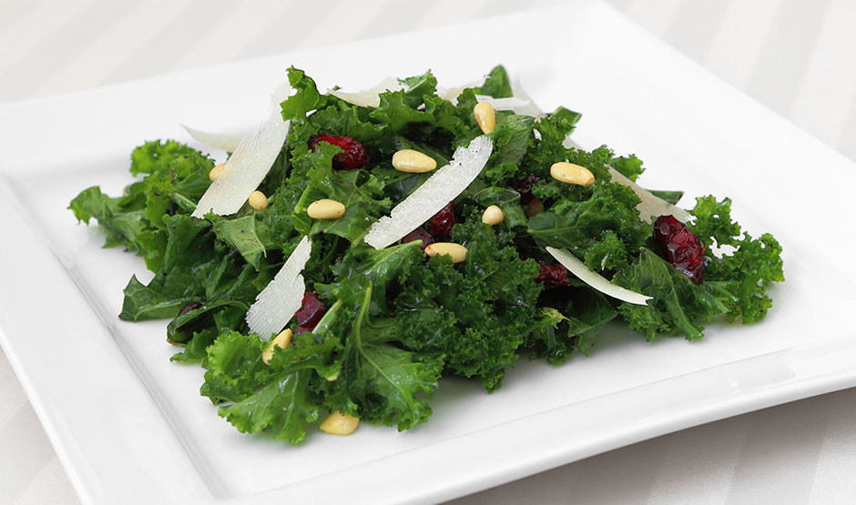 Tuscan Kale Salad with Honey Lemon Dressing